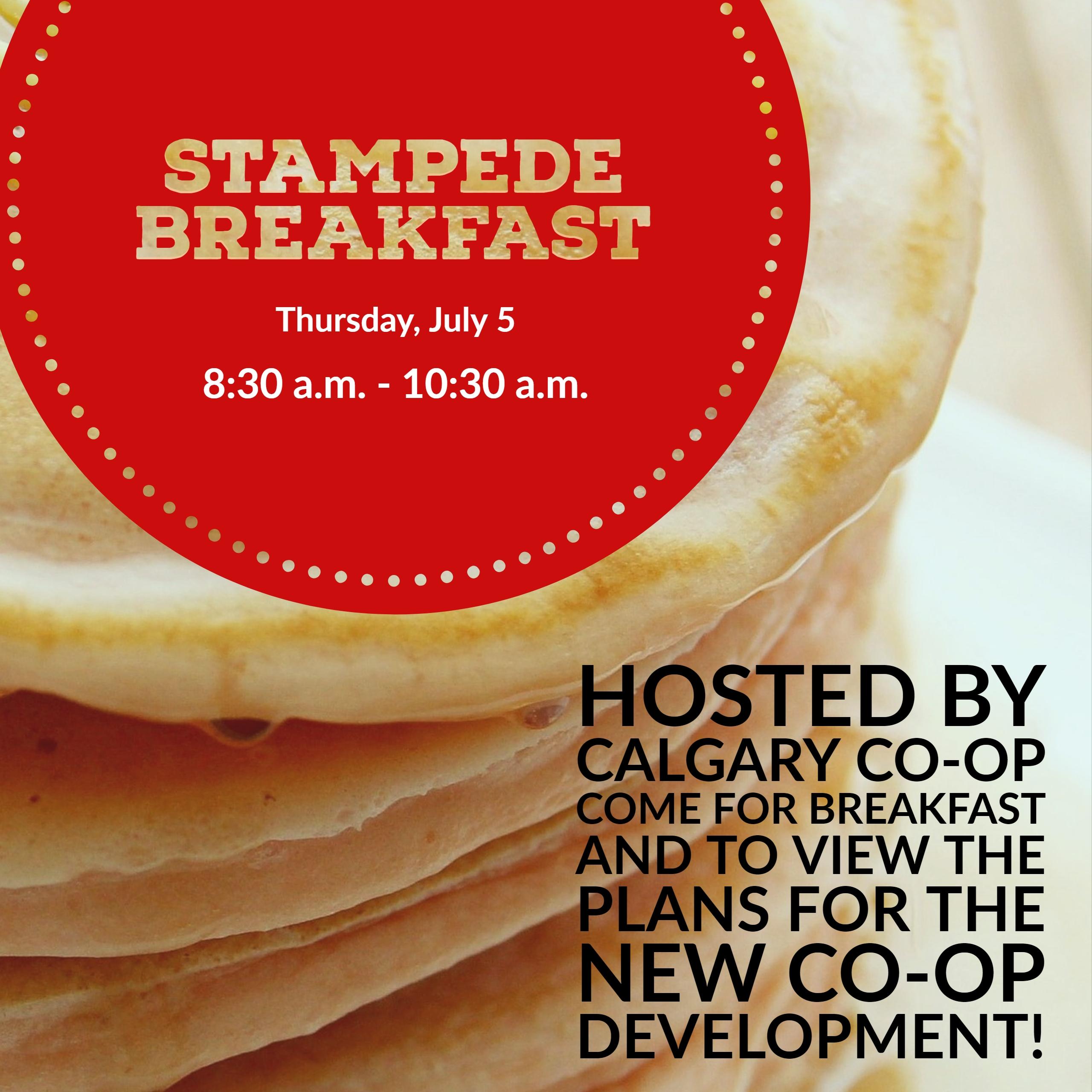 Co Op Stampede Breakfast July 5 8 30am 10 30am Winston